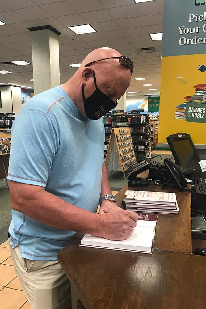 Brian Walsh signing books at Barnes & Noble
